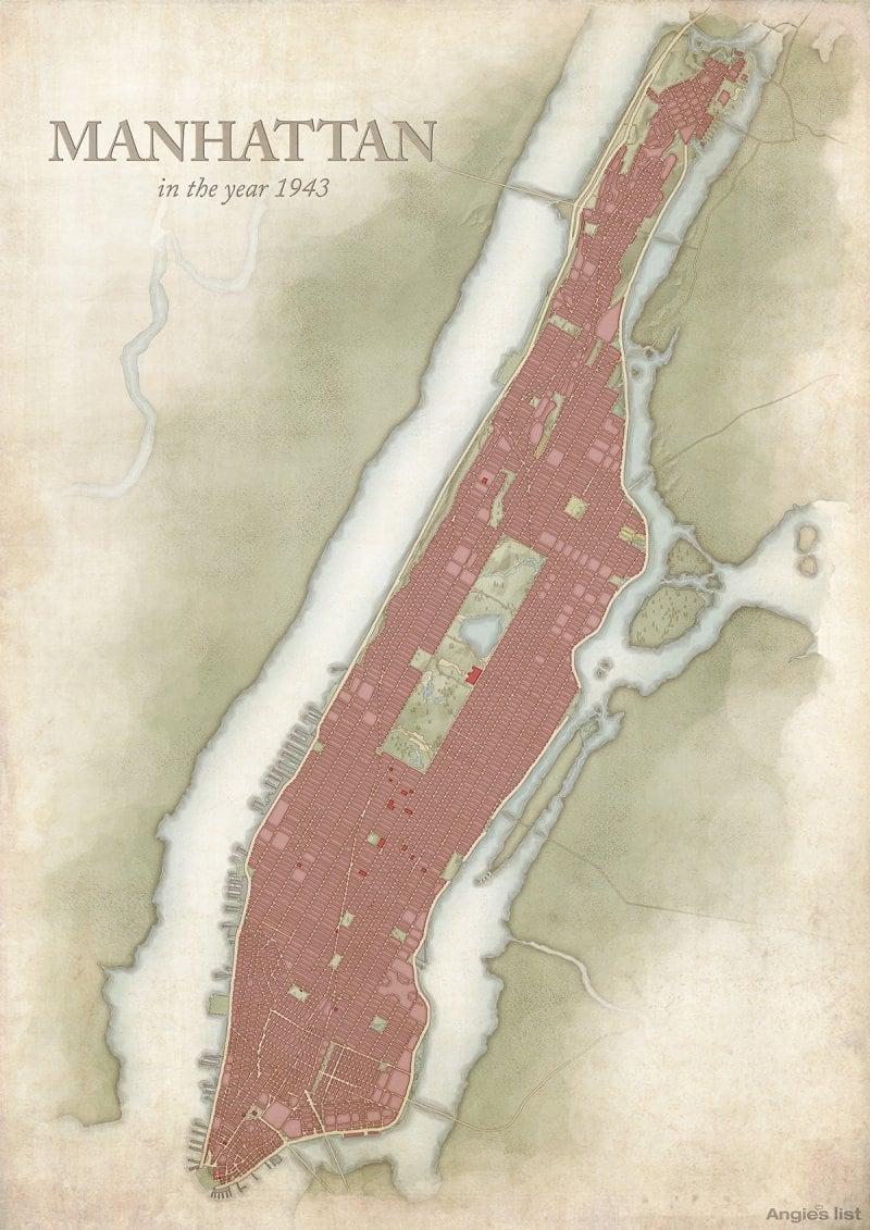 Manhattan in 1943