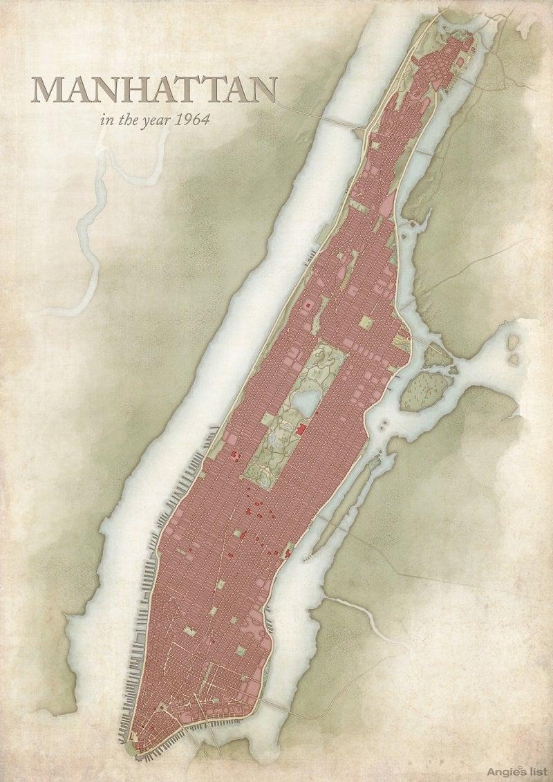 Manhattan in 1964