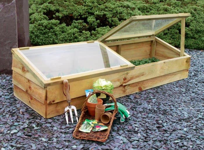 A cold-frame greenhouse is small but effective. (Photo courtesy of Ofer El-Hashahar)