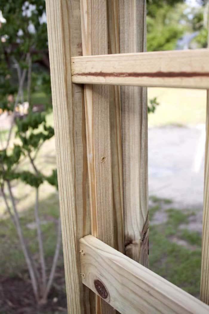Attach the horizontal trellis pieces. (Photo courtesy of Jamie Lott/Southern Revival)