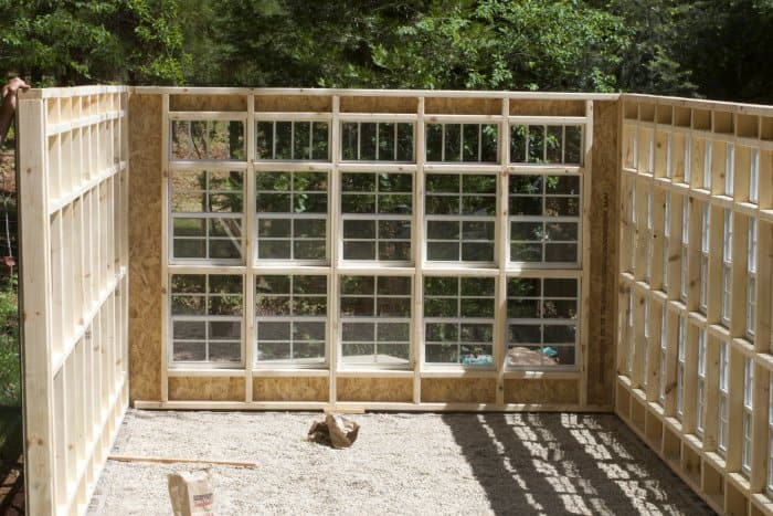 The walls come in panels to easily assemble. (Photo courtesy of Courtney Allison/The French Country Cottage)