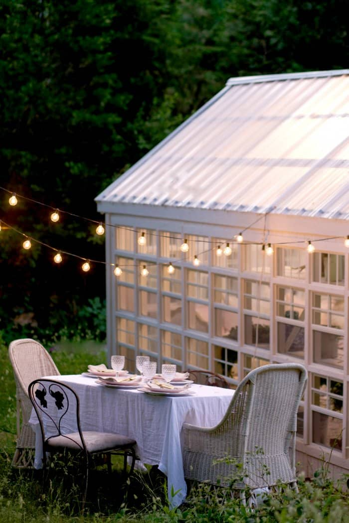 The dining area is wonderful for warm summer evenings. (Photo courtesy of Courtney Allison/The French Country Cottage)