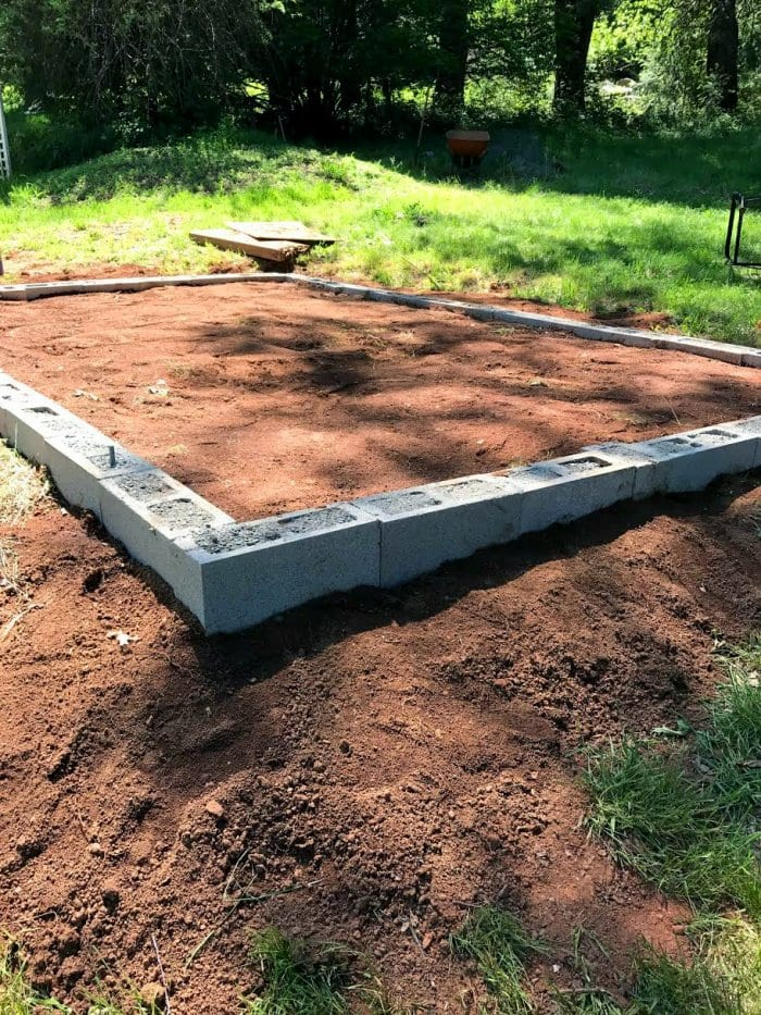 Leveling the yard and adding a foundation is optional, but it will help keep moisture away. (Photo courtesy of Courtney Allison/The French Country Cottage)
