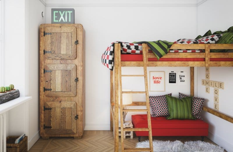 kids bunk beds (Photo by Bulgac/iStock/Getty Images Plus via Getty Images)