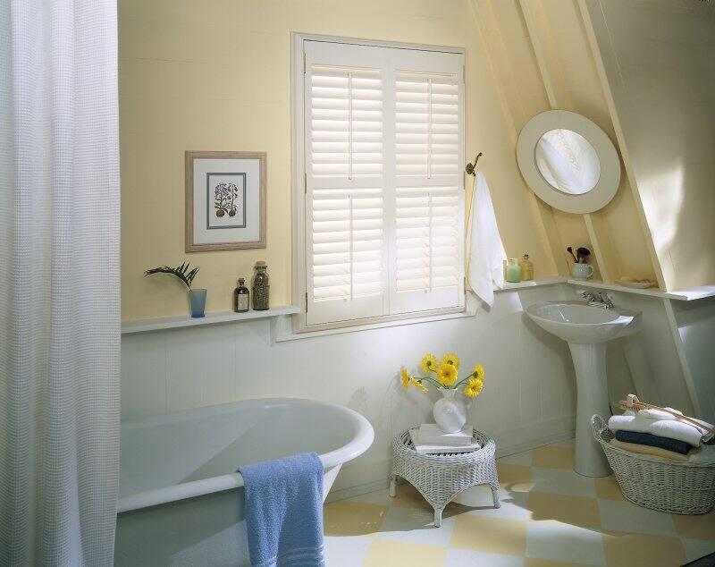 window shutters in bathroom