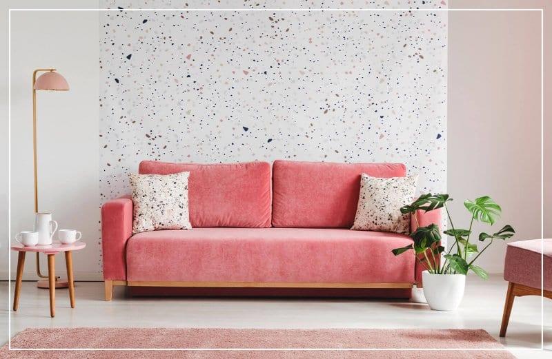 abstract paint splatter accent wall (Photo by Photographee.eu/Shutterstock.com)