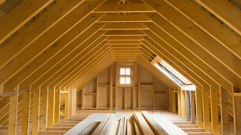 Attic trusses (Photo by northlightimages / E+ via Getty Images)