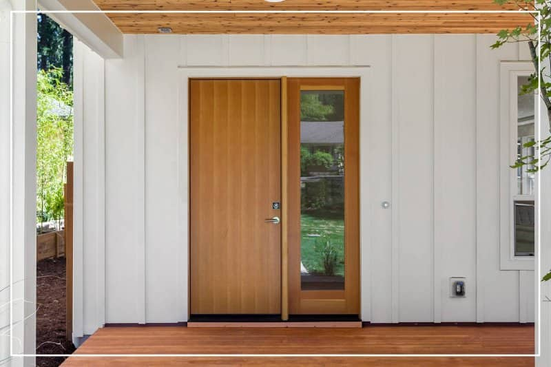 chestnut front door  (Photo by hikesterson/iStock/Getty Images Plus via Getty Images)