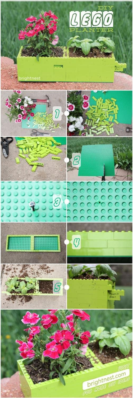 lego planter instructions