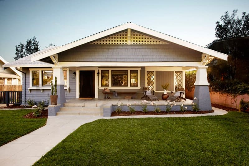 Craftsman-style house with an open porch layout (Photo by Joe Schmelzer/Corbis Documentary/Getty Images)