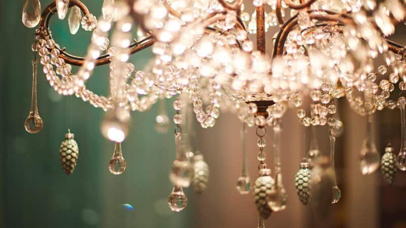 Detail of a crystal chandelier (Photo by petrenkod/iStock / Getty Images Plus via Getty Images)