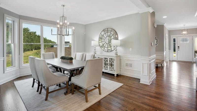 Sideboard in large open dining room area (Photo by PC Photography / iStock / Getty Images Plus via Getty Images)