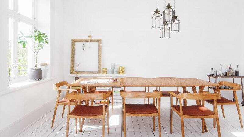 A Scandinavian dining room on a sunny day (Photo by imaginima/E+ via Getty Images)