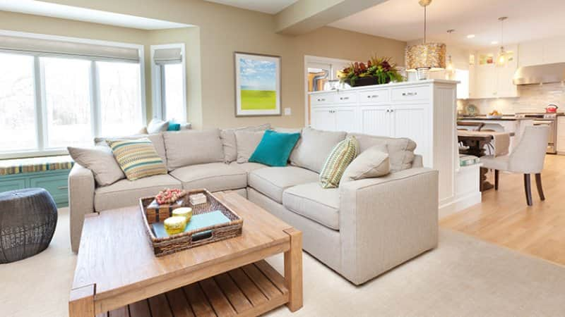 Open Concept Family Room and Kitchen (Photo by YinYang/ iStock via Getty Images)