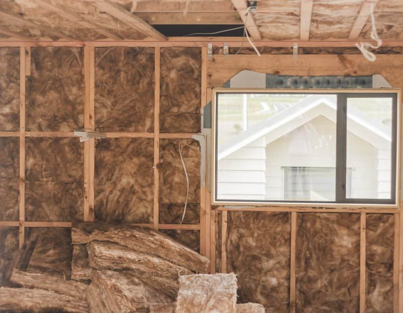 A large garage with insulation that's under construction (Photo by kuznets5smit7 - stock.adobe.com)