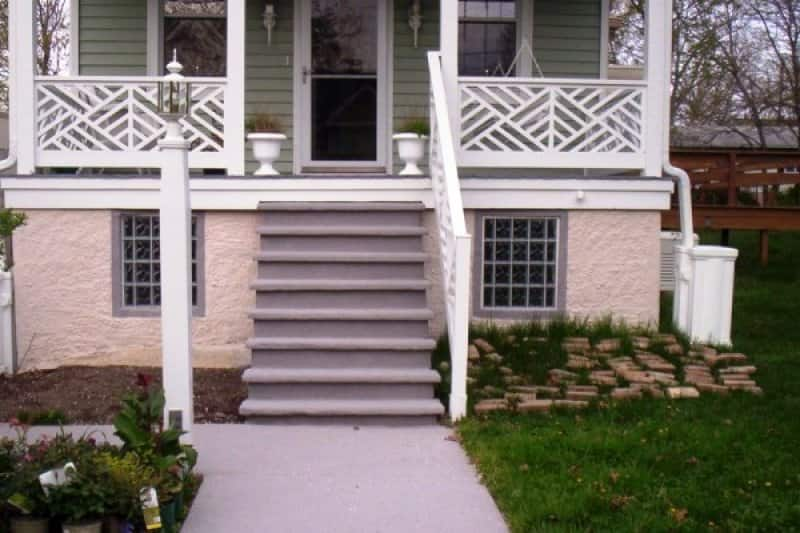 """"""" I was able to choose my color of granite. I chose two different colors: one for the sidewalk and porch and another color for the foundation of the house."""" (Photo courtesy of Angie's List member Michelle Lewis of Baltimore)"""
