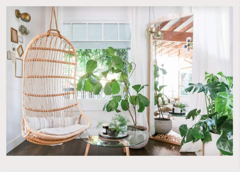 indoor swing in sunroom  (Photo by © Lexia Frank/Stocksy)