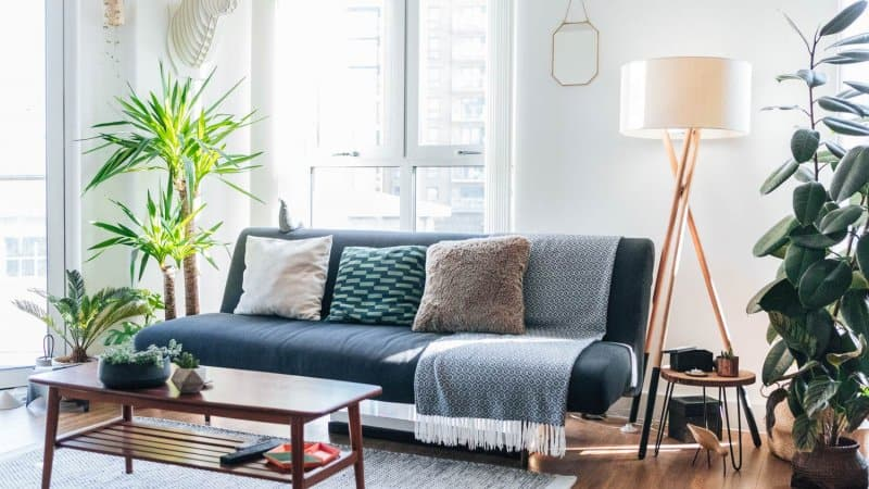 A modern, bright and stylish living room (Photo by Oscar Wong/Moment via GettyImages)