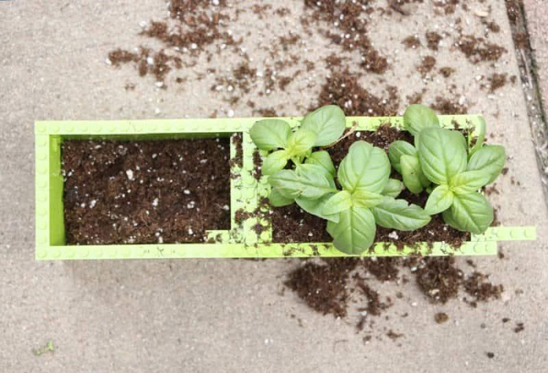 lego planter soil