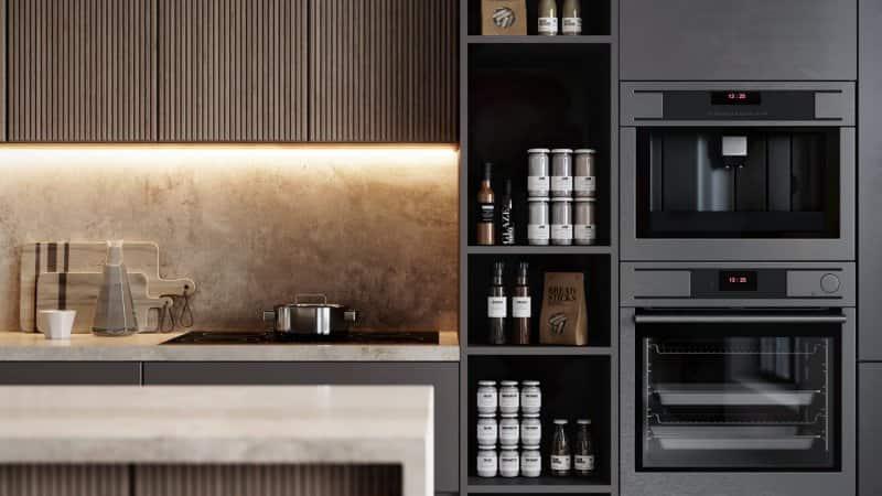 A light strip applied under kitchen cabinetry (Photo by alvarez/E+ via Getty Images)