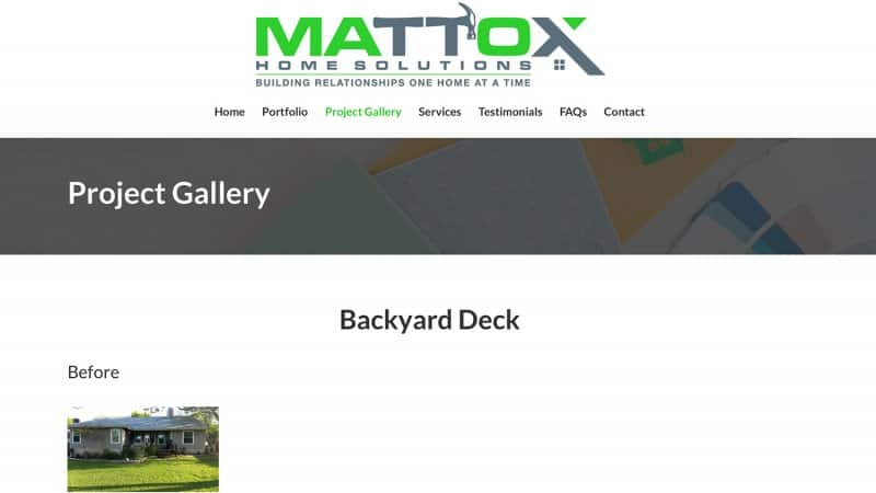 Mattox Home Solutions' home page (Photo by http://mattoxhomesolutions.com/project-gallery/)
