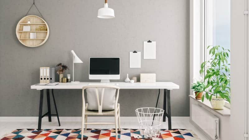 A modern, scandinavian style home office  (Photo by imaginima/E+ via Getty Images)