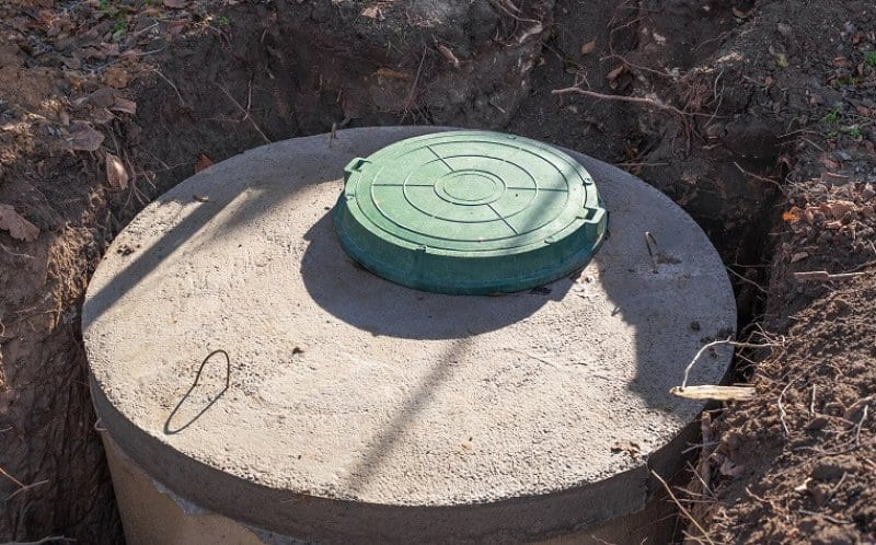 newly installed septic tank in a country yard (Photo by © Natalia - stock.adobe.com)