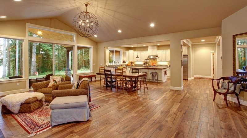 Open concept house with hardwood floors (Photo by irina88w via iStock / Getty Images Plus)