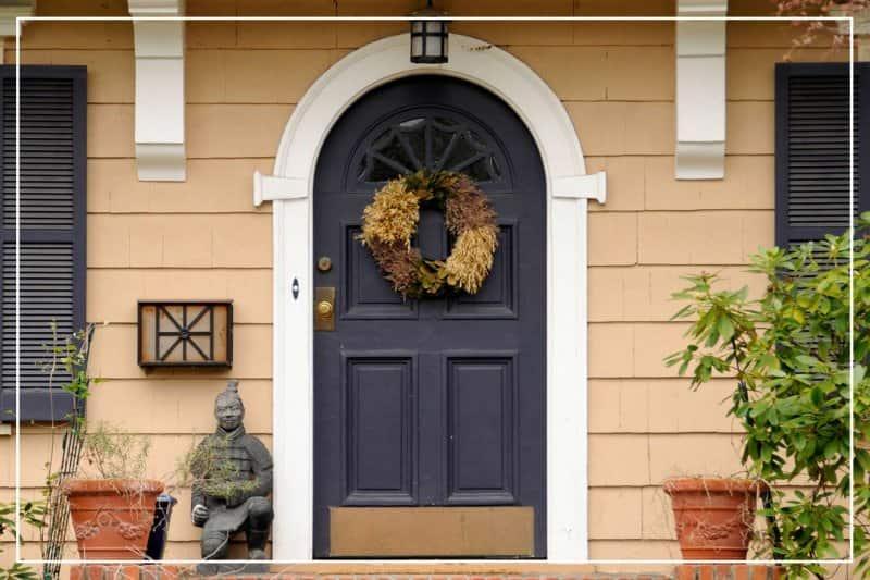 plum color front door  (Photo by SondraP/iStock/Getty Images Plus via Getty Images)