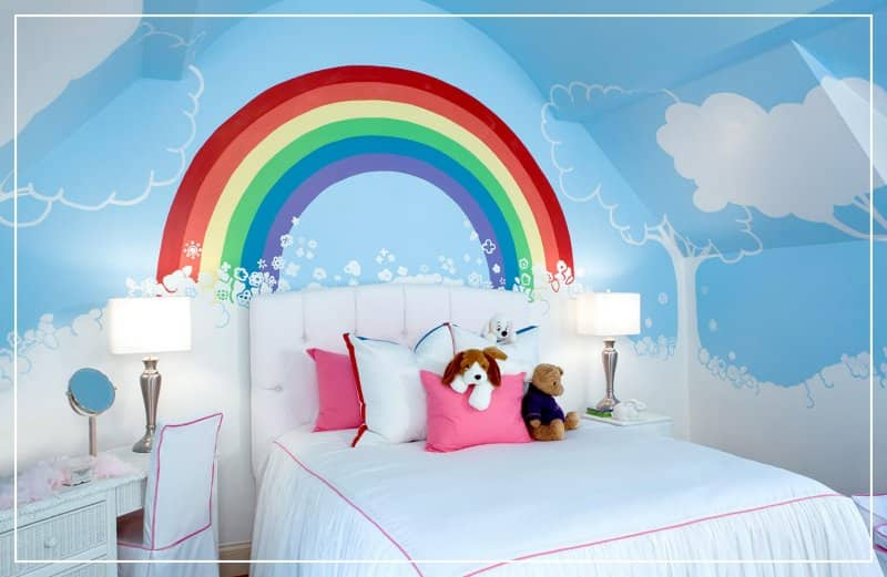 rainbow mural kids room (Photo by T_A_P/ E+ via Getty Images)