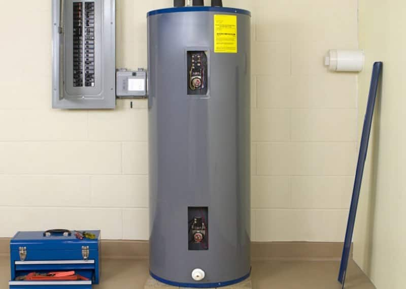 Residential water heater (Photo by © JulNichols / E+ / Getty Images)