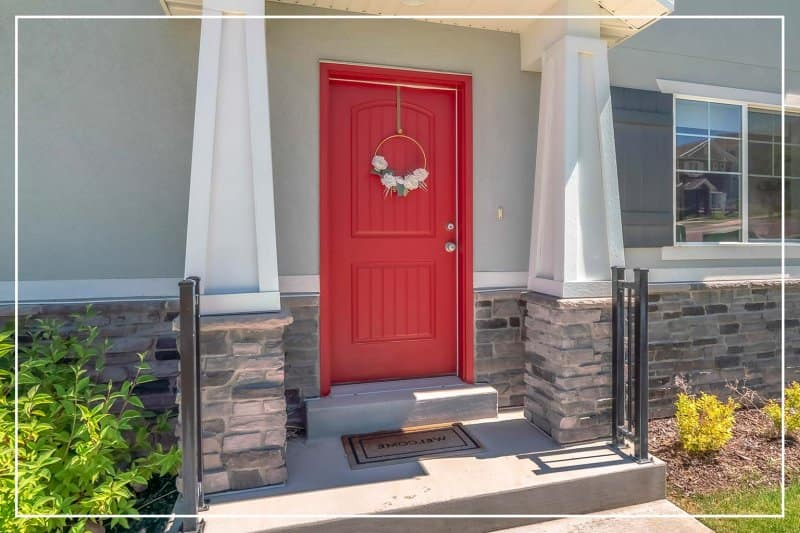 ruby red front door  (Photo by Jason Finn/iStock/Getty Images Plus via Getty Images)