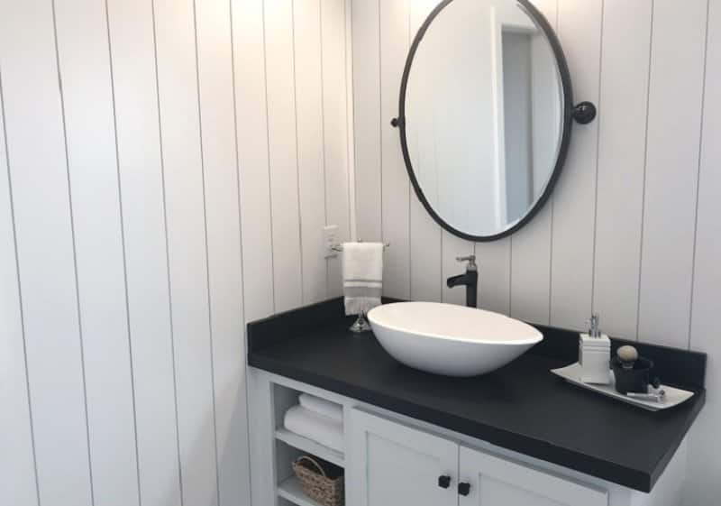Shiplap bathroom (Photo by TriggerPhoto / iStock / Getty Images Plus / Getty Images)
