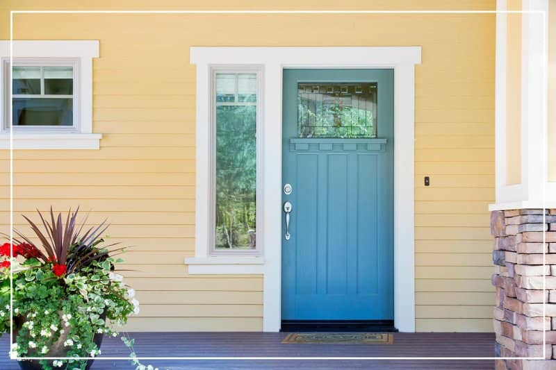 sky blue color door  (Photo by dpproductions/iStock/Getty Images Plus via Getty Images)