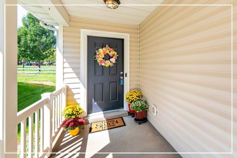 slate color front door  (Photo by Jason Finn/Shutterstock.com)