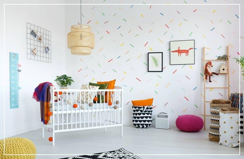 sprinkle wallpaper in baby room (Photo by Photographee.eu/Shutterstock.com)