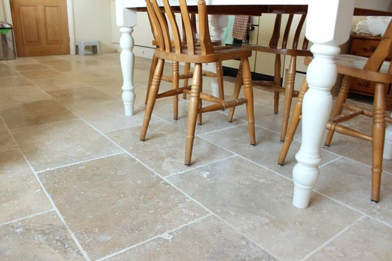 Travertine kitchen floor (Photo by mtreasure / iStock / Getty Images Plus / Getty Images)