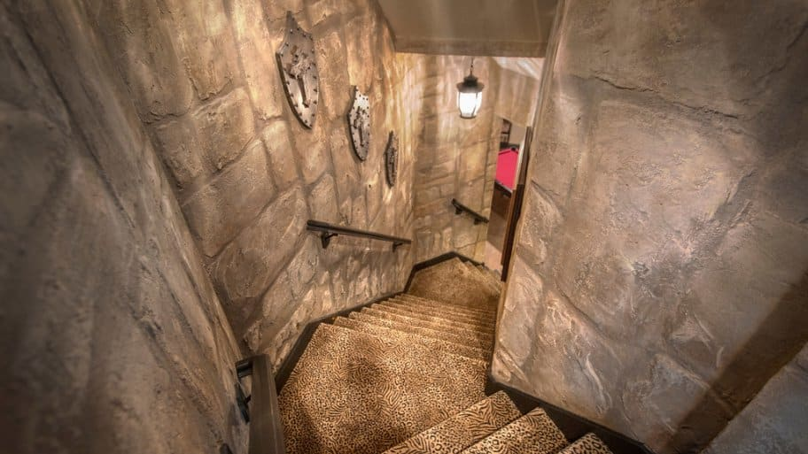 Faux stone stairway by Silver Crow Studios