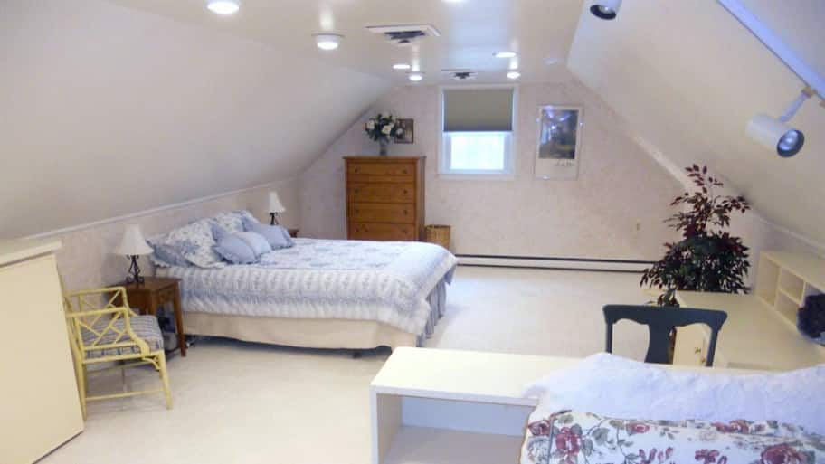 attic bedroom, finished attic, spare bedroom