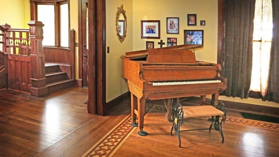 Antique furniture in formal living room