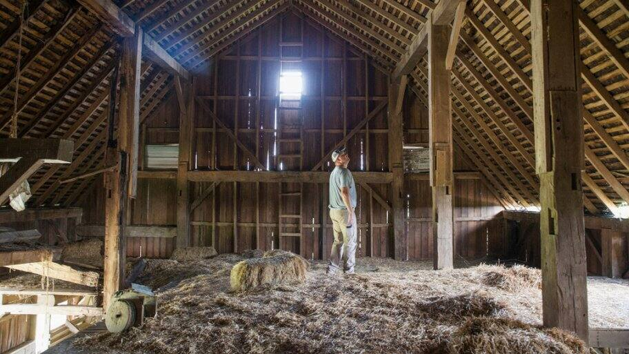 Interior of an old barn in Kokomo, Indiana