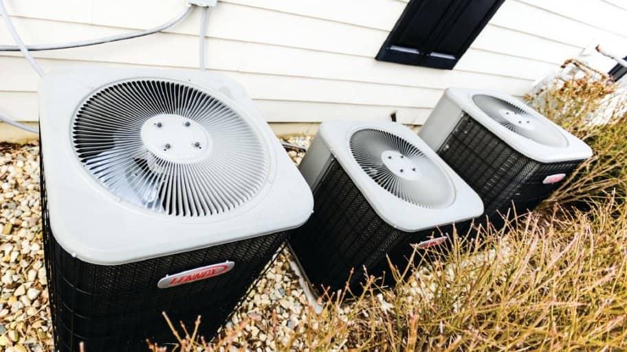 Outdoor HVAC fan units