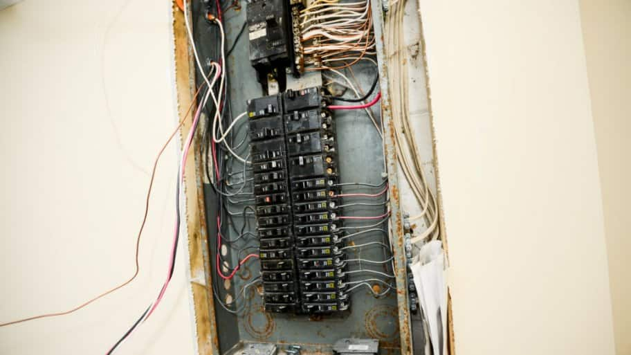Electrical box with exposed wiring