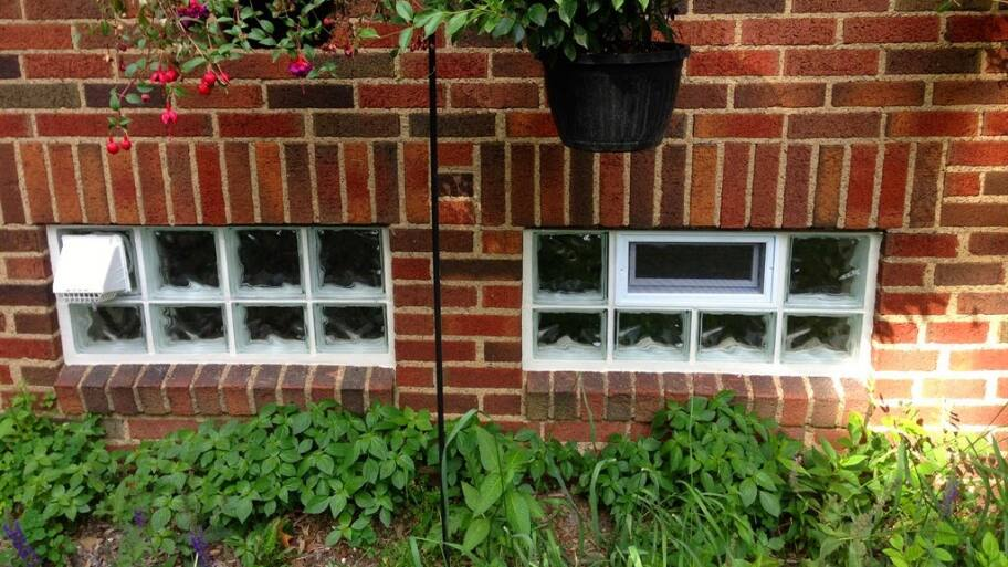 glass block window, basement window