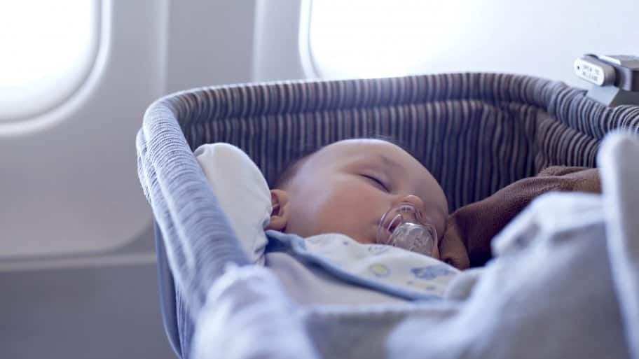 Sleeping baby in carrier