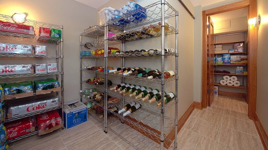 drink storage in the basement