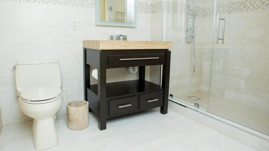 bathroom shower and floor tile