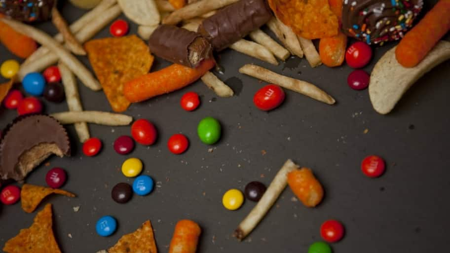 Candy and junk food.
