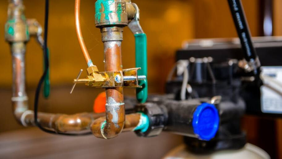 Copper plumbing pipe