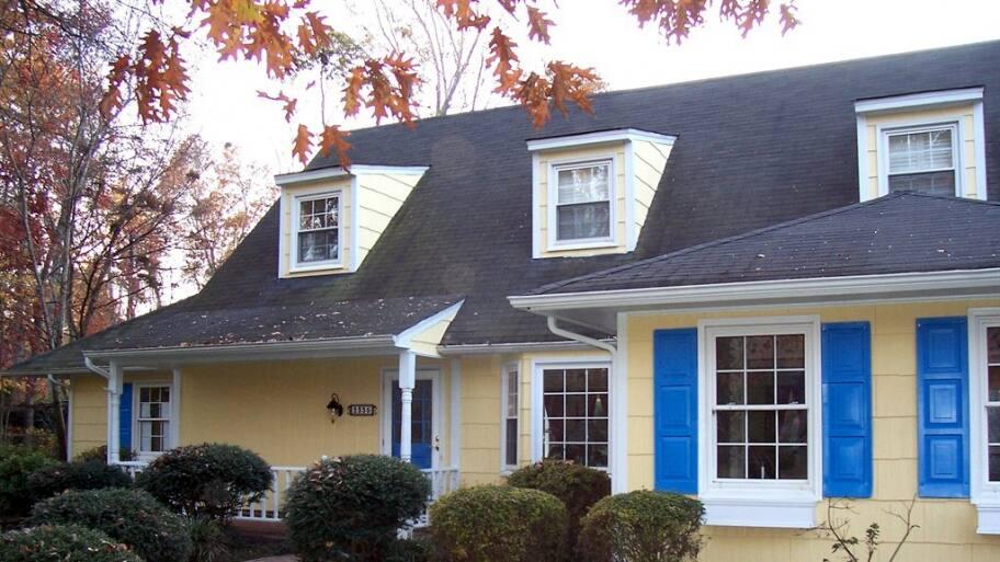 asphalt shingles on home roof